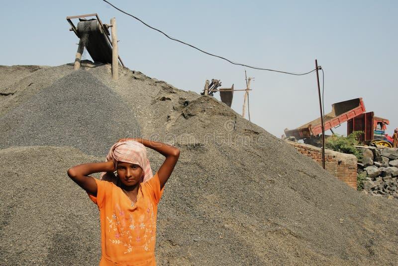 Mina do triturador em India fotografia de stock