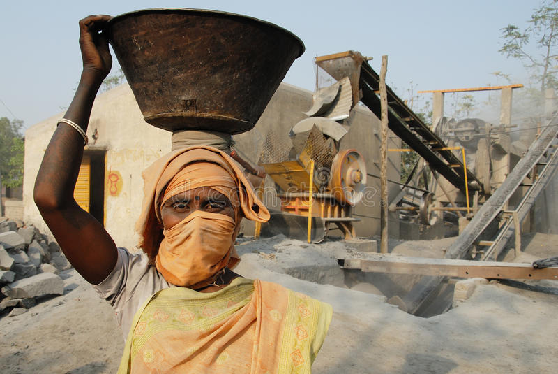 Mina do triturador em India foto de stock royalty free