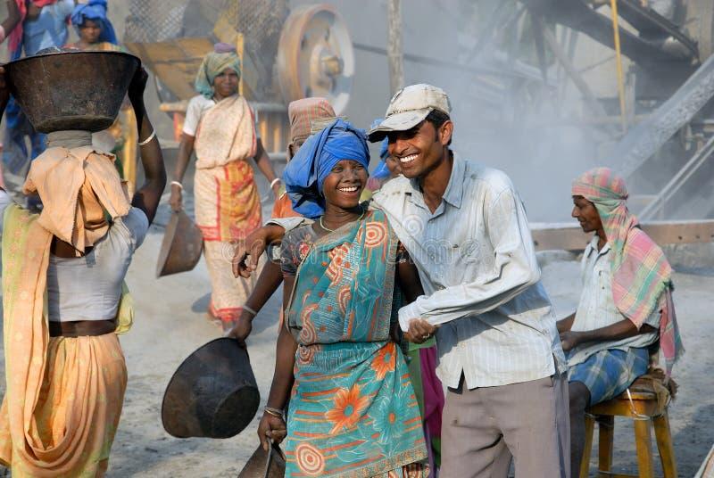 Mina do triturador em India imagem de stock royalty free