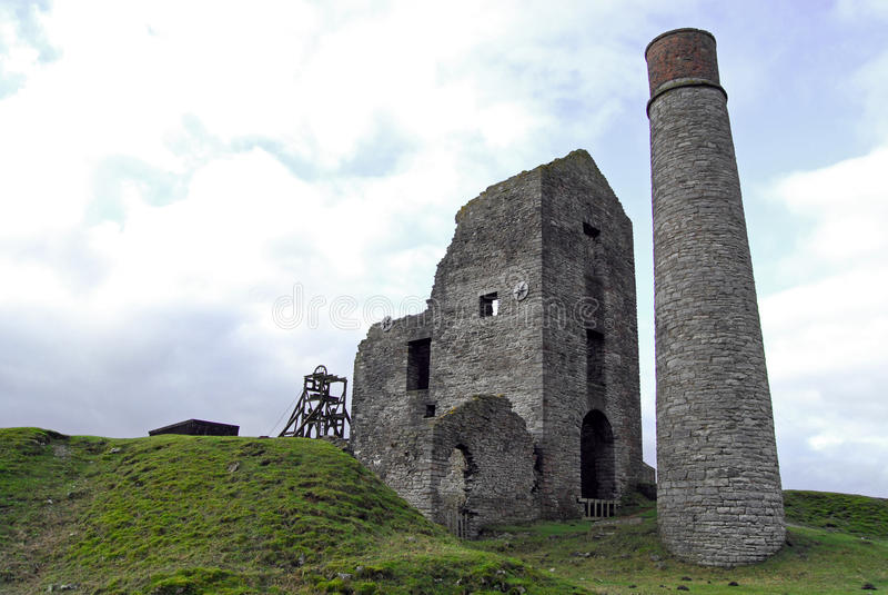 Mina em Sheldon, Derbyshire do Magpie imagem de stock royalty free
