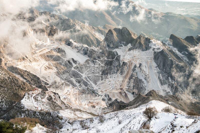 Mina en Toscana, Carrara imagen de archivo
