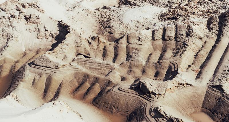 Mina industrial de la arena Hoyo de arena Sector de la construcci?n imagenes de archivo