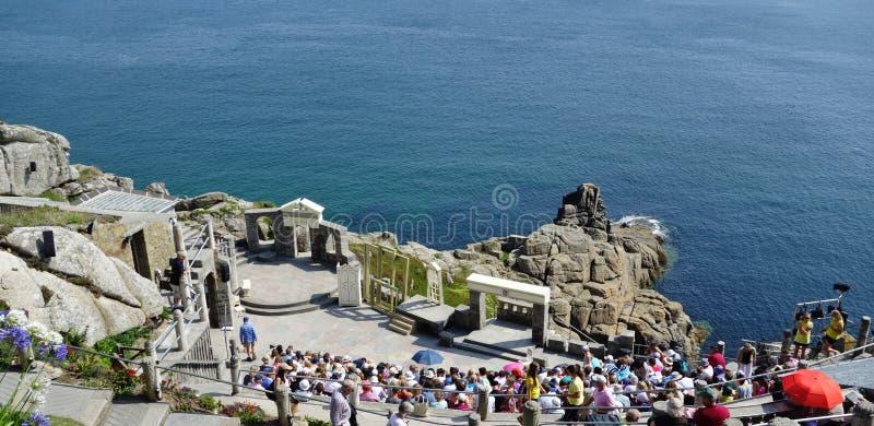 Minack frilufts- teater, Cornwall royaltyfri foto