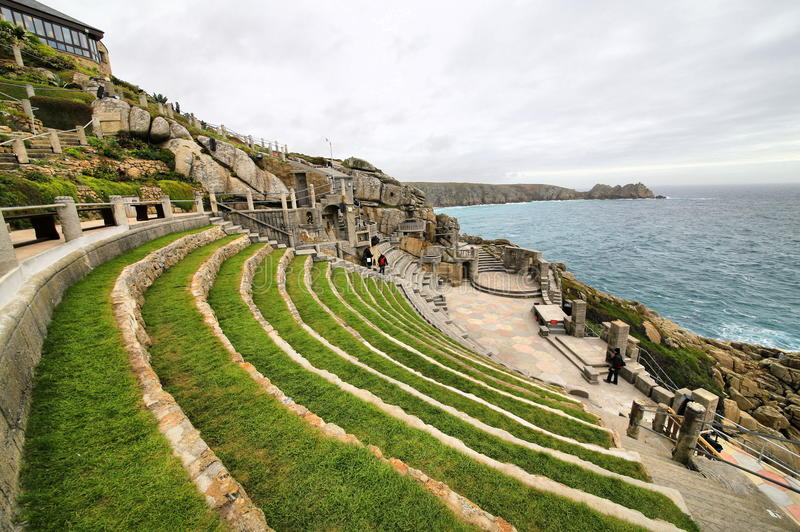 Minack-Theater Cornwall England stockbilder