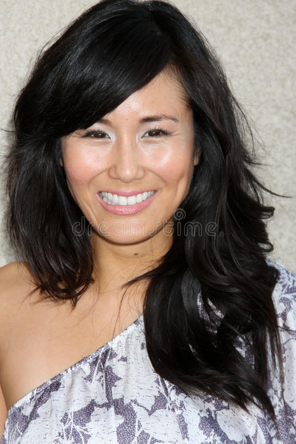 Minae Noji. Arriving at the General Hospital Fan Club Luncheon at the Airtel Plaza Hotel in Van Nuys, CA on July 18, 2009 royalty free stock photography