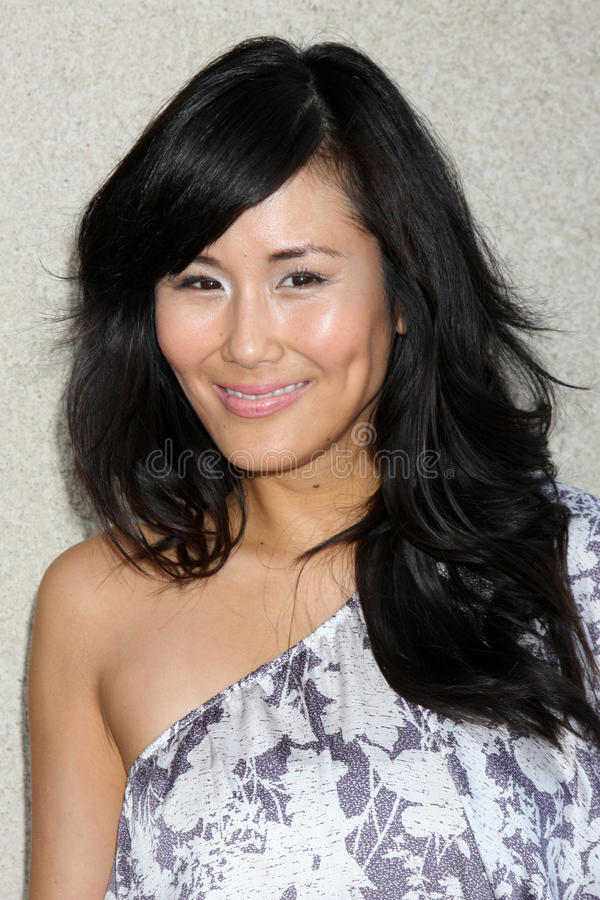 Minae Noji. Arriving at the General Hospital Fan Club Luncheon at the Airtel Plaza Hotel in Van Nuys, CA on July 18, 2009 royalty free stock image