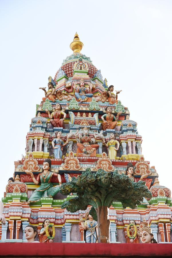 Minakshi Sundareshvara Hindu Temple - India. The Minakshi Sundareshvara Hindu Temple in the town of Madurai in the Tamil Nadu region of southern India royalty free stock images