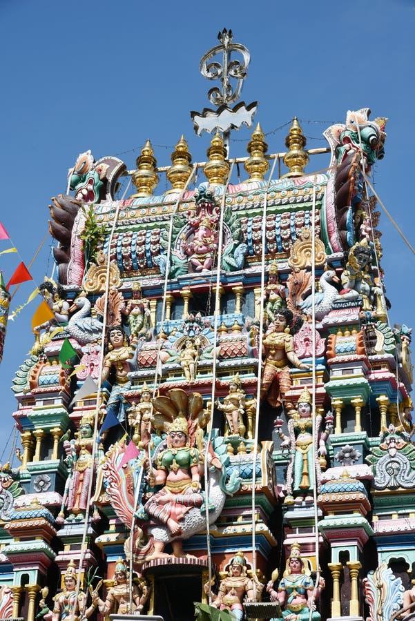 India temple. The Minakshi Sundareshvara Hindu Temple in Madurai in the Tamil Nadu region of Southern India stock image