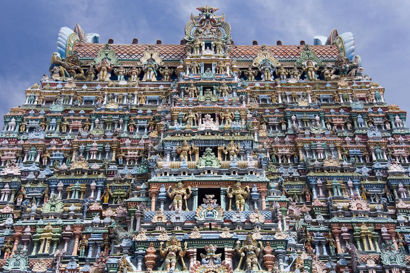 Minakshi Sundareshvara hinduistischer Tempel - Indien lizenzfreies stockbild