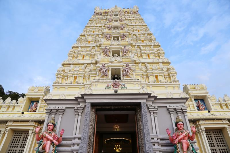 Minakshi Sundareshvara Temple - Madurai - India. The Minakshi Sundareshvara Hindu Temple in Madurai in the Tamil Nadu region of Southern India royalty free stock photography