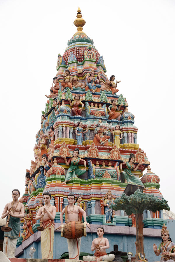 Minakshi Sundareshvara Temple - Madurai - India. The Minakshi Sundareshvara Hindu Temple in Madurai in the Tamil Nadu region of Southern India royalty free stock photo