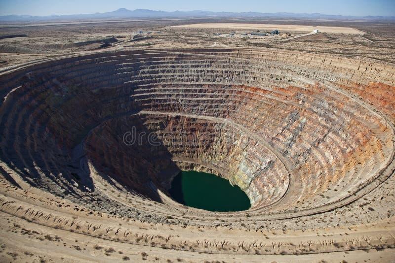 Minando, poço aberto fotografia de stock