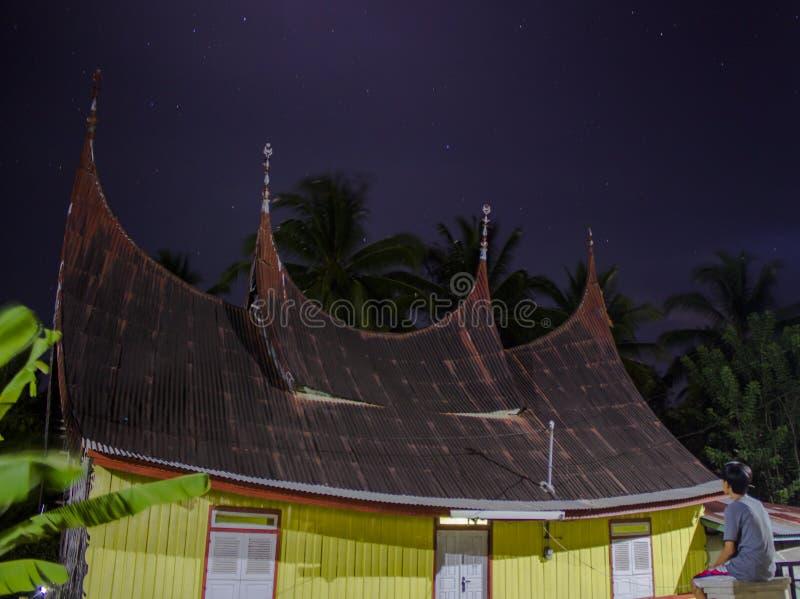 Minang传统议院 免版税库存照片