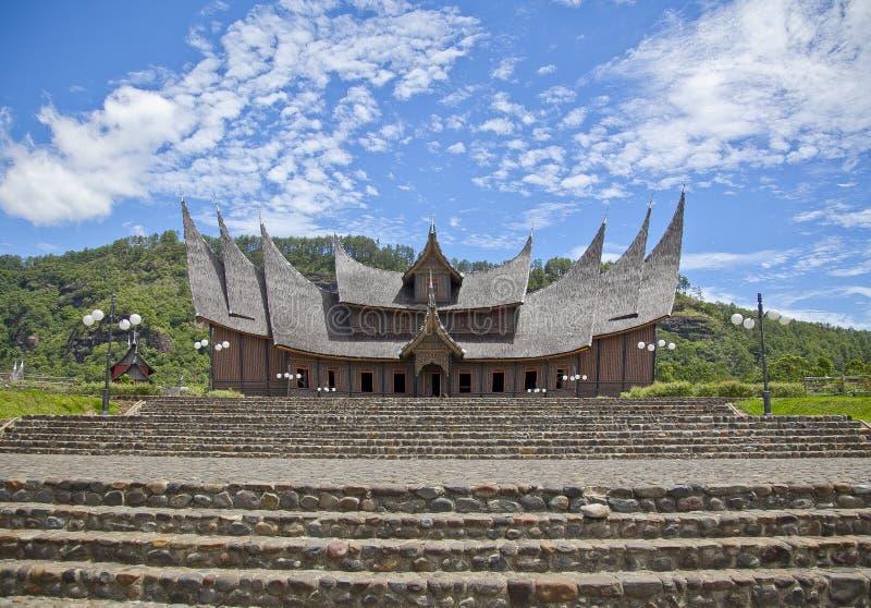 Minangkabau slott royaltyfri fotografi