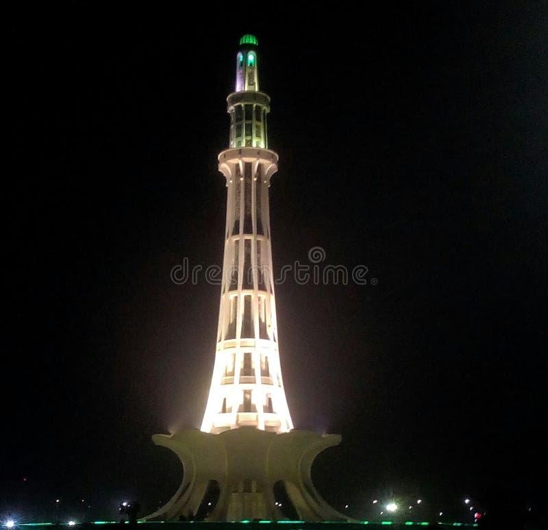 Minar巴基斯坦 库存照片