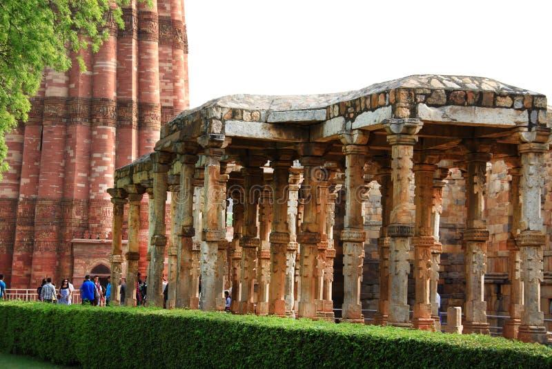 Minar καταστροφές Qutb στοκ φωτογραφίες
