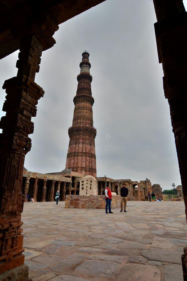 minar πύργος qutb Δελχί Ινδία στοκ φωτογραφία