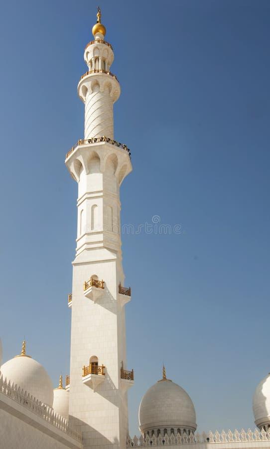 Minar des Scheichs Zayed Moqsue stockbilder