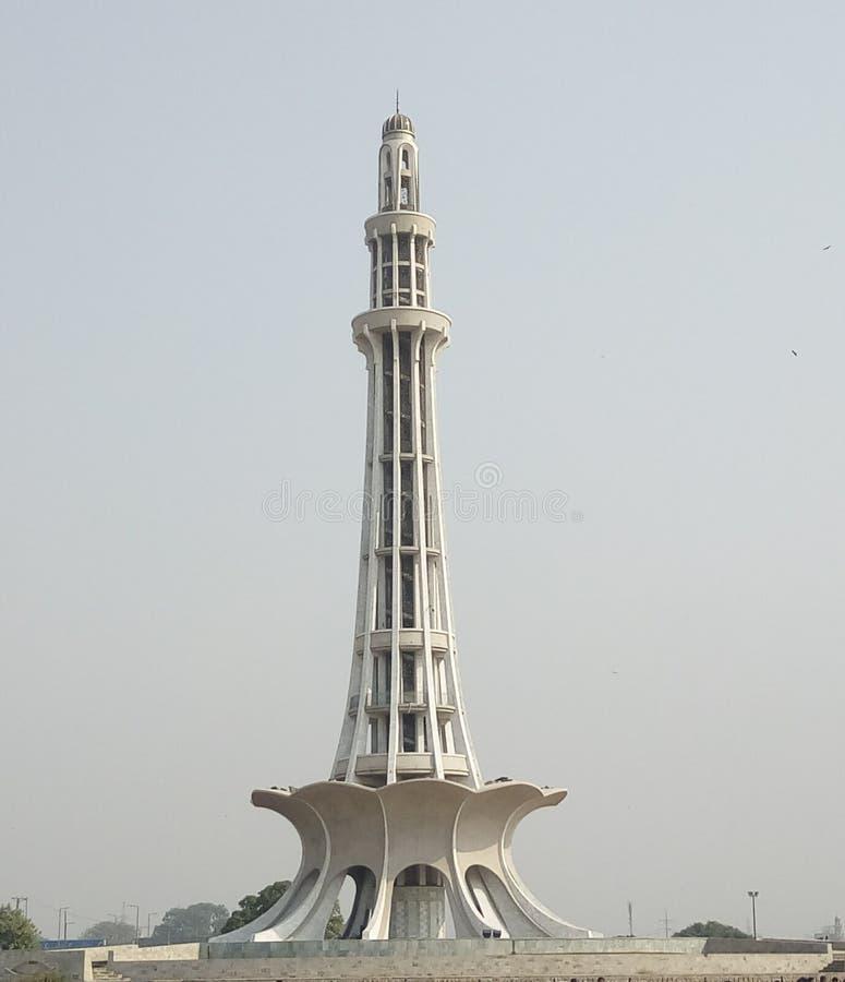 Minar-e-Pakistan fotografering för bildbyråer