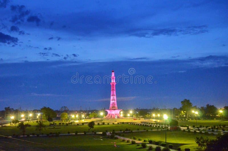 Minar e Pakistan, Lahore, Punjab, Pakistan stock fotografie