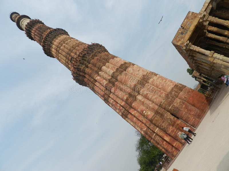 Minar Qutab stock afbeelding