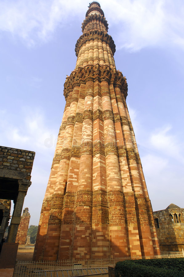 minar qutub του Δελχί Ινδία στοκ φωτογραφία με δικαίωμα ελεύθερης χρήσης