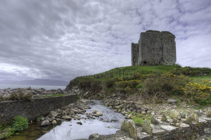 Minard Castle, ιρλανδική αγελάδα κομητειών, Ιρλανδία στοκ φωτογραφίες