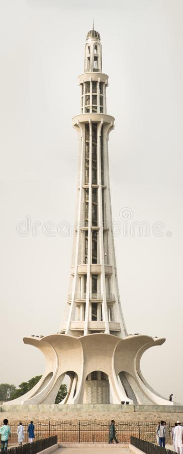 Minare Pakistan dag stock afbeelding