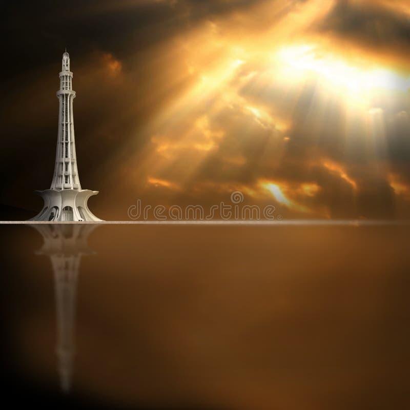 Minare Pakistan fotografie en illustratie stock fotografie
