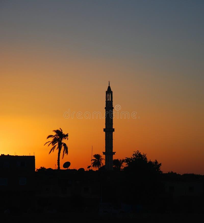 Minaret au coucher du soleil photos libres de droits