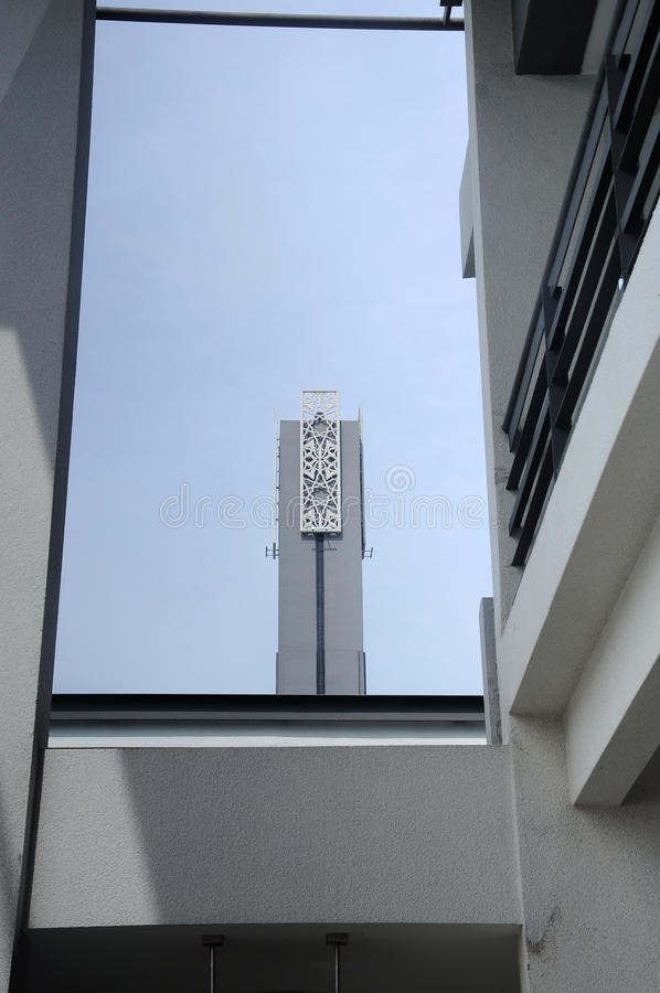 Minaret av Puncak Alam Mosque på Selangor, Malaysia arkivfoton