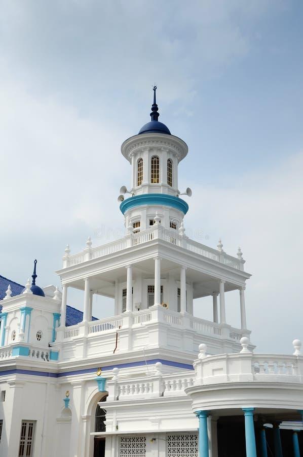 Minaret av Sultan Ibrahim Jamek Mosque på Muar, Johor royaltyfria foton