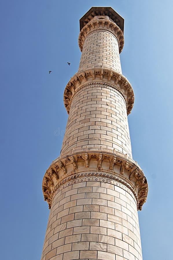 Minaret av Taj Mahal i Agra, Indien royaltyfria bilder