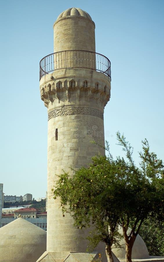 Minaret In Baku Stock Photo