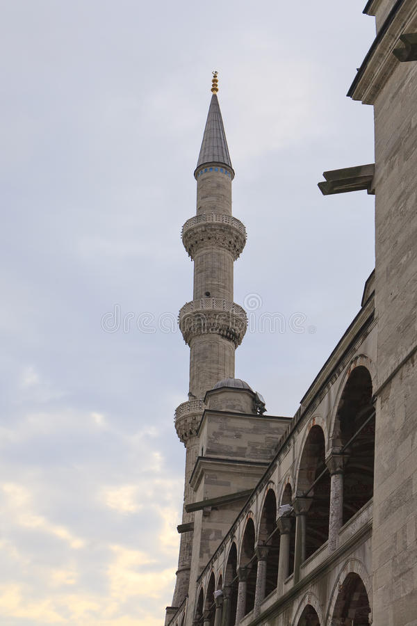 Download Minaret Of The Blue Mosque In Istanbul, Turkey Stock Image - Image: 22283171