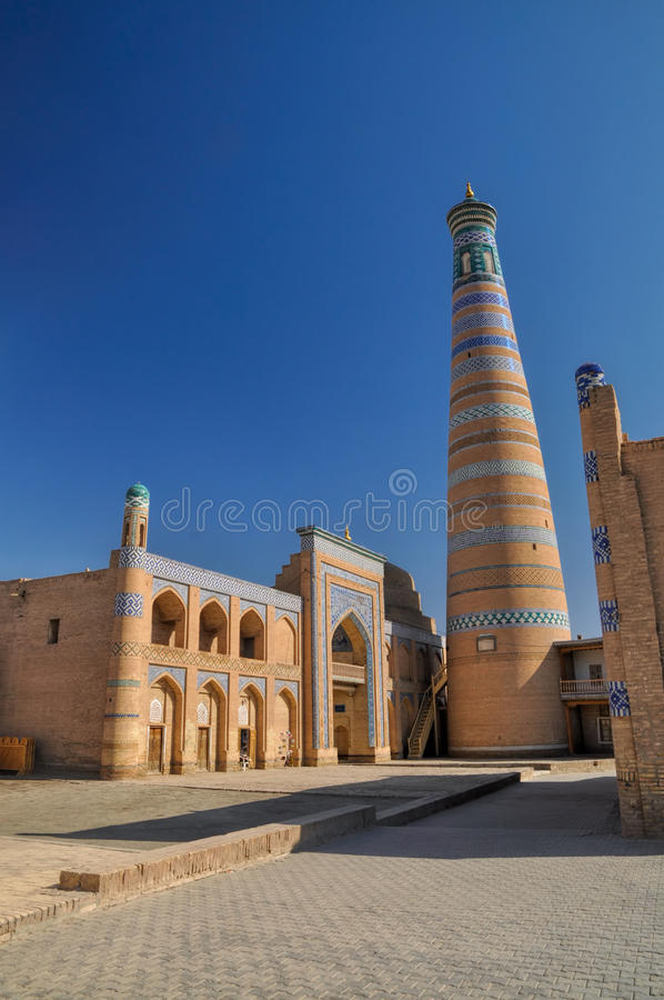 Minaret dans Khiva image libre de droits