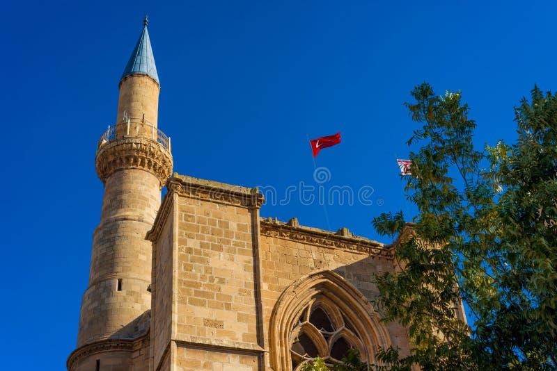 Minaret de mosquée de Selimiye Nicosia, Chypre photo libre de droits