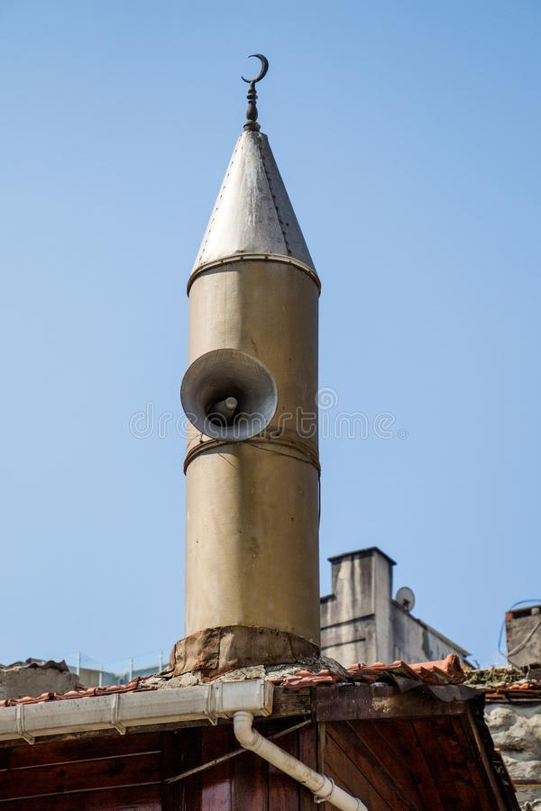 Minaret des mosquées de tabouret en vue photo libre de droits