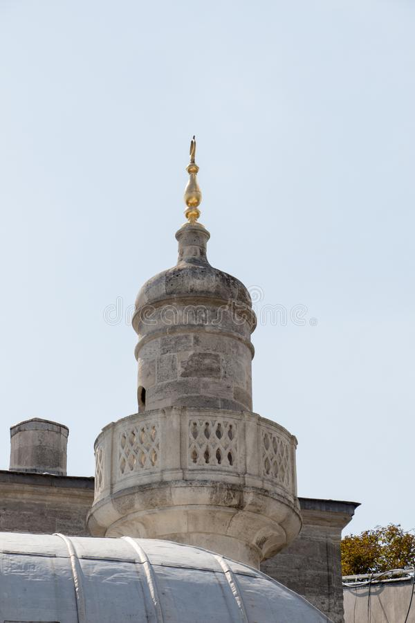 Minaret des mosquées de tabouret en vue photographie stock