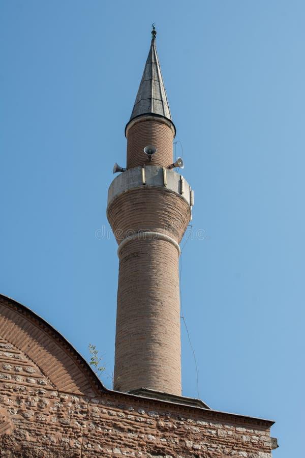 Minaret des mosquées de tabouret en vue photos stock