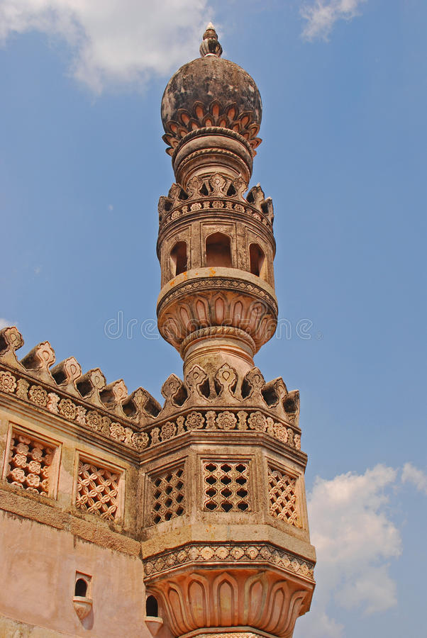 Minaret in Golkonda-Fort royalty-vrije stock foto