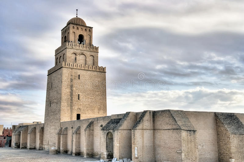 Download Minaret Of The Great Mosque In Kairouan Stock Image - Image: 25396127
