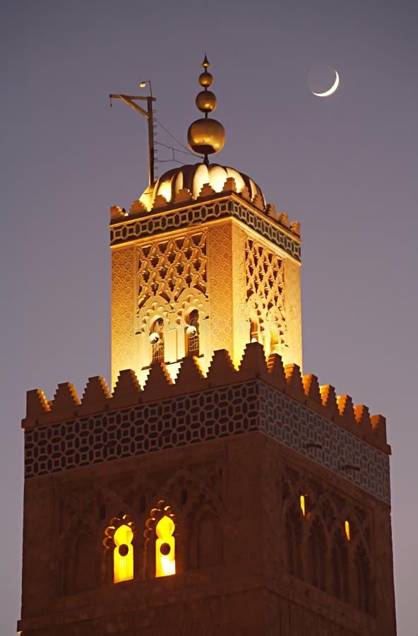 Minaret II van de Moskee van de boekhandelaar stock fotografie