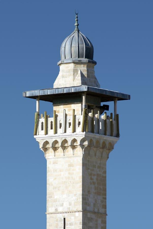 minaret jerusalem obraz stock