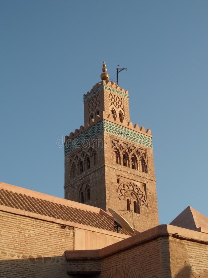 Minaret Of The Koutoubia Mosque Stock Images