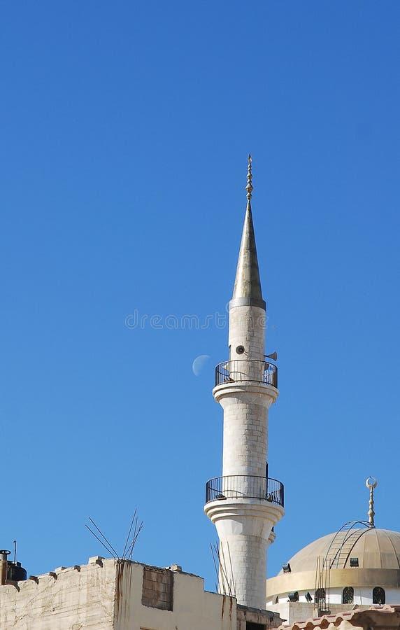 Minaret in Madaba, Jordan royalty free stock photos