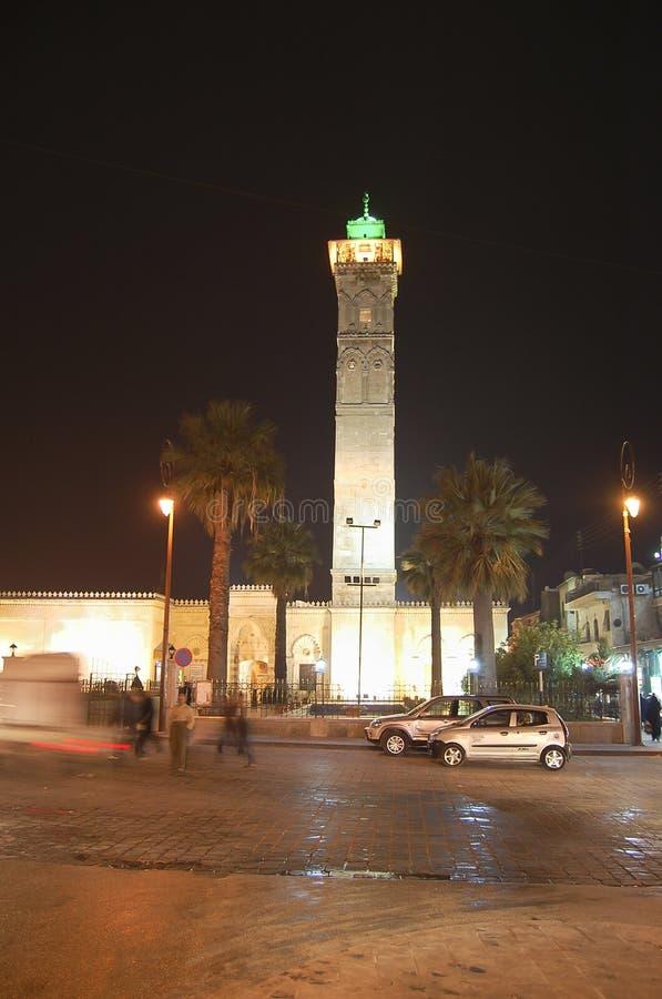 Minaret maintenant détruit de la grande mosquée d'Alep - la Syrie photographie stock libre de droits