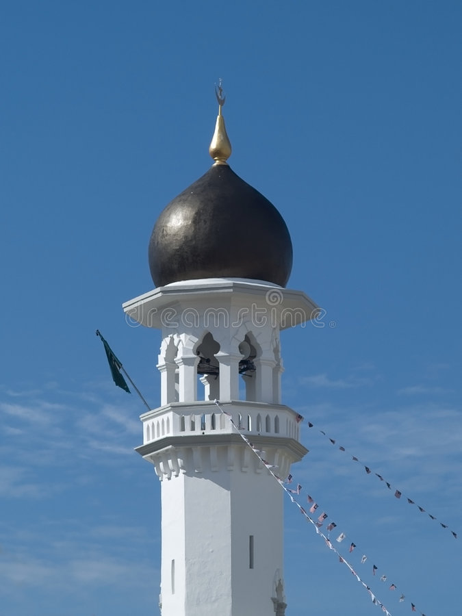 Minaret at a mosque stock photography