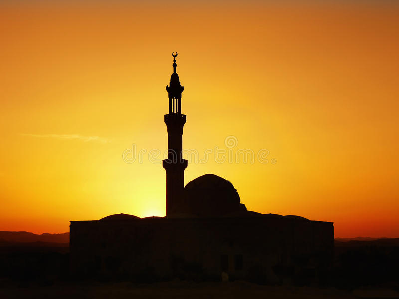 Minaret, Mosque, Sunset royalty free stock photography