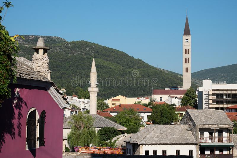 Minaret In The Old City Of Xanthi, Greece Stock Image